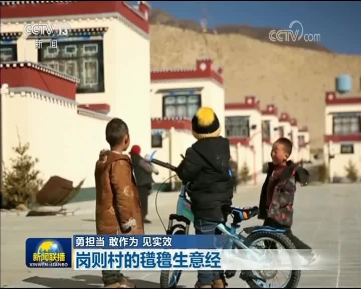 [视频]【勇担当 敢作为 见实效】岗则村的氆氇生意经