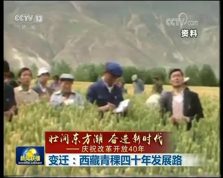 [视频]【壮阔东方潮 奋进新时代——庆祝改革开放40年】变迁:西藏青稞四十年发展路