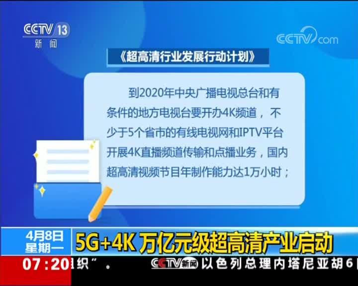 [视频]5G 4K万亿元级超高清产业启动