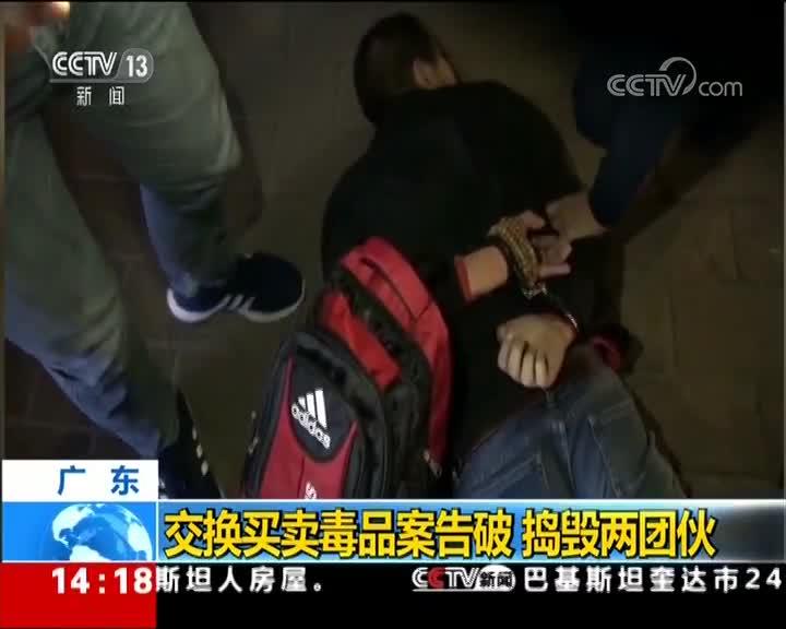 [视频]广东:交换买卖毒品案告破 捣毁两团伙