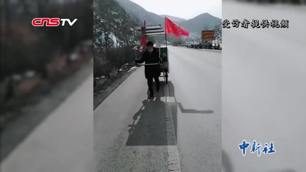 [视频]男子欲徒步2800公里 独自穿越新疆无人区