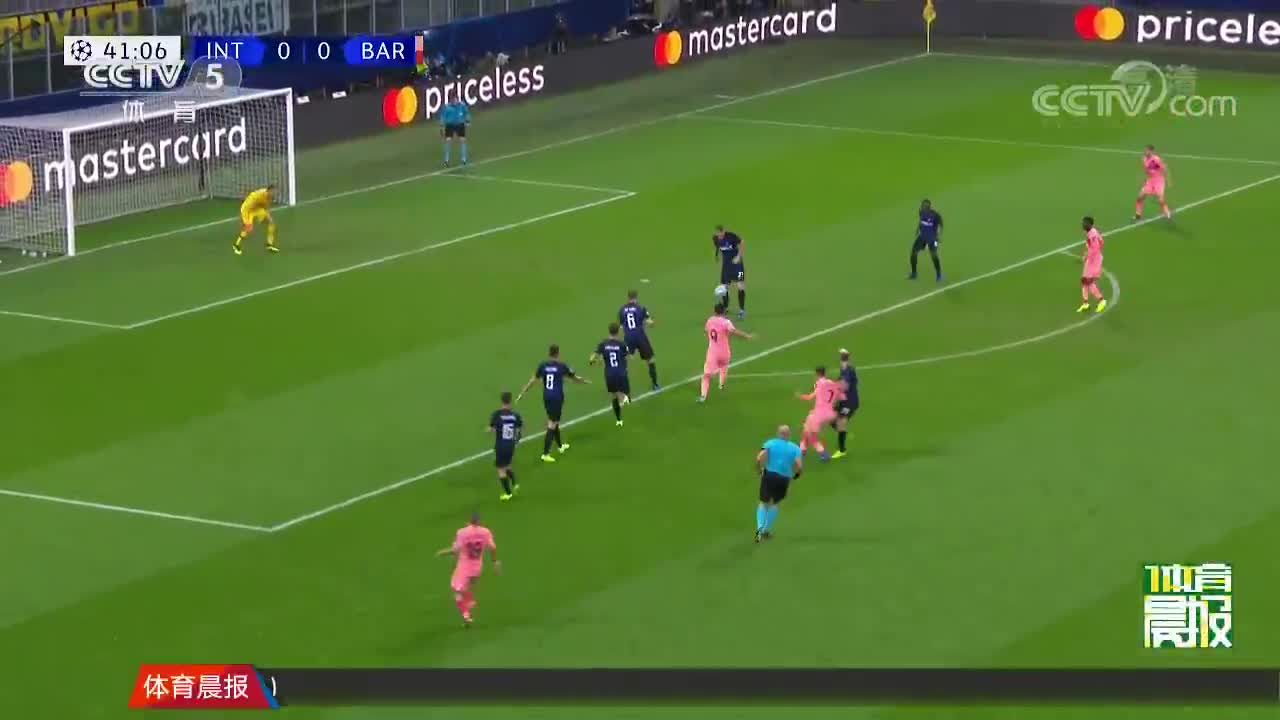 [视频]欧冠:巴萨1-1战平国米 提前两轮小组出线