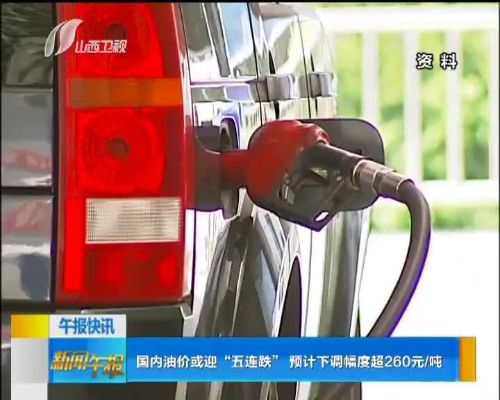"""[视频]国内油价或迎""""五连跌"""" 预计下调幅度超260元/吨"""