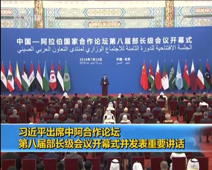 [视频]习近平出席中阿合作论坛第八届部长级会议开幕式并发表重要讲话