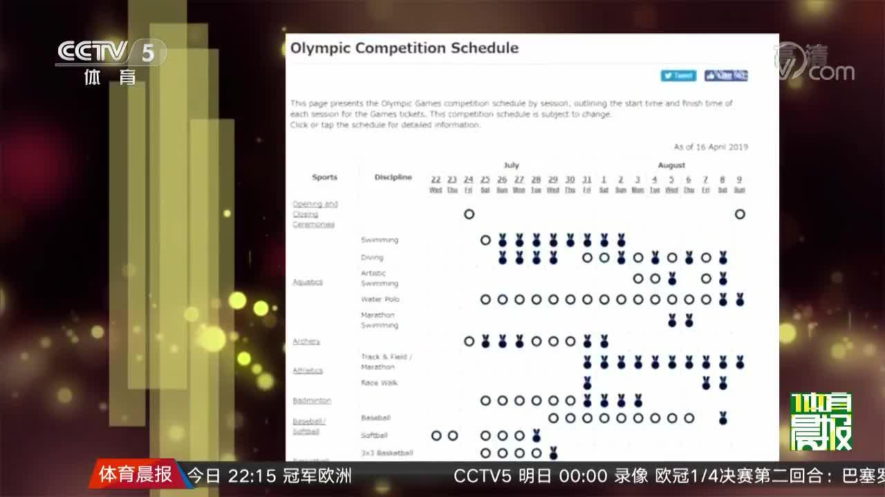 [视频]东京奥运会组委会公布2020年奥运会赛程