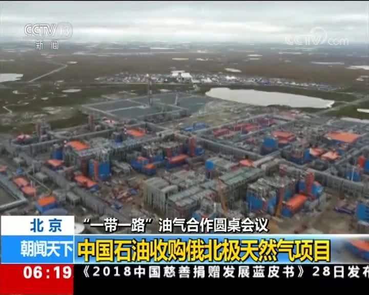 """[视频]""""一带一路""""油气合作圆桌会议 中国石油收购俄北极天然气项目"""