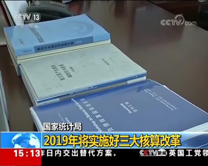 [视频]国家统计局:2019年将实施好三大核算改革