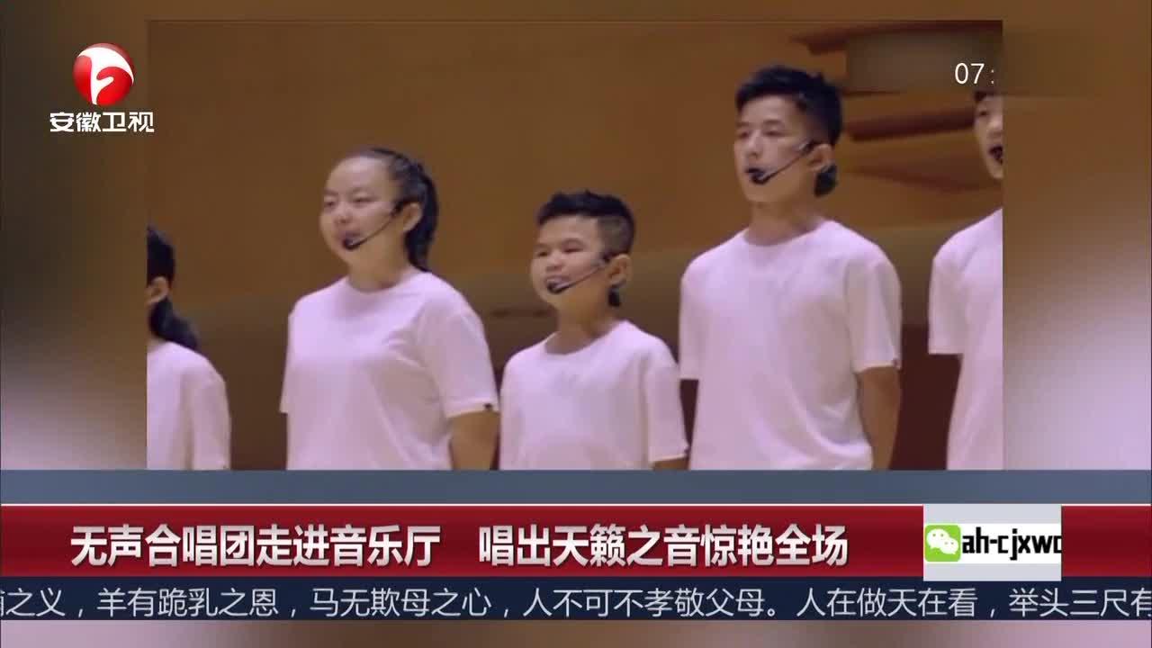 [视频]无声合唱团走进音乐厅 唱出天籁之音惊艳全场