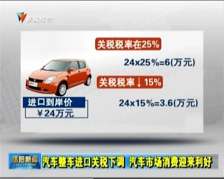 汽车整车进口关税下调 汽车市场消费迎来利好