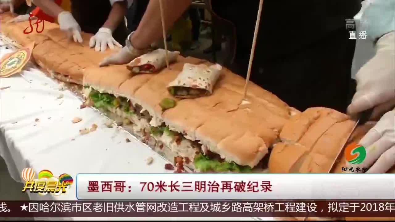 [视频]墨西哥:70米长三明治再破纪录